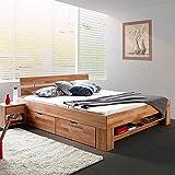Futonbett Sofie 140 X 200 Cm Holz Bett Aus Buche Massiv Kernbuche
