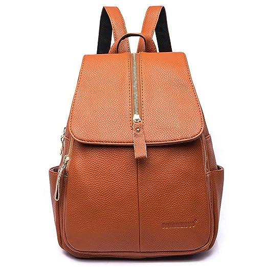 mochila bolso mujer color naranja