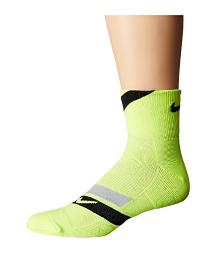Nike Running Dri Fit Cushion D Calcetines, Hombre, Amarillo (Volt/Black/