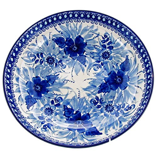Polish Pottery Handmade Vintage Unikat 10.5'' 2 QT SERVING BOWL - U214 by Great2bHome Polish Pottery and Unique Gifts (Image #2)