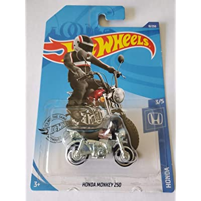Hot Wheels 2020 Honda Monkey Z50, 10/250 Dark Red: Toys & Games