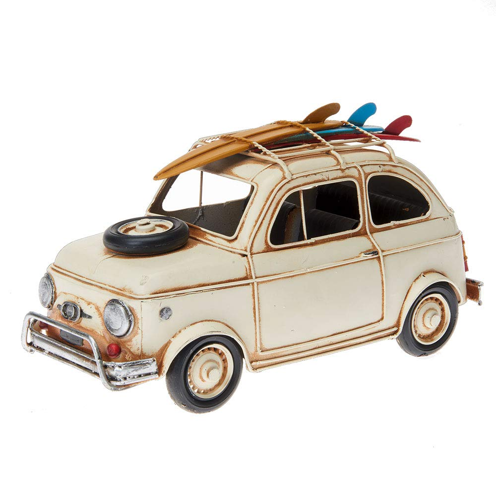 Pamer-Toys Modellauto aus Blech - im Antik-Vintage-Retro-Style - 25 -35 cm Länge (FIAT 500, beige) B07Q4PF6KT Fahrzeuge & Rennwagen Große Klassifizierung | Vorzügliche Verarbeitung