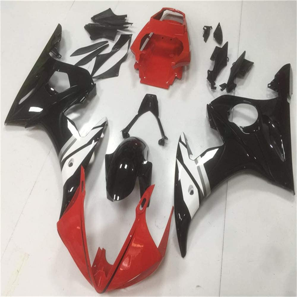 NT FAIRING Red White Black Injection Mold Fairing Fit for Yamaha YZF 2003-2005 R6 /& 2006-2009 R6S New Painted Kit ABS Plastic Motorcycle Bodywork Aftermarket