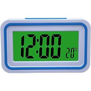 SOGO SS-3905 Reloj Despertador de Mesa con Voz Color Negro ...