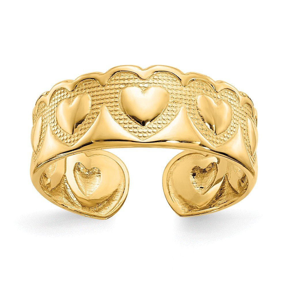 Jewels By Lux 14K Yellow Gold Heart Toe Ring