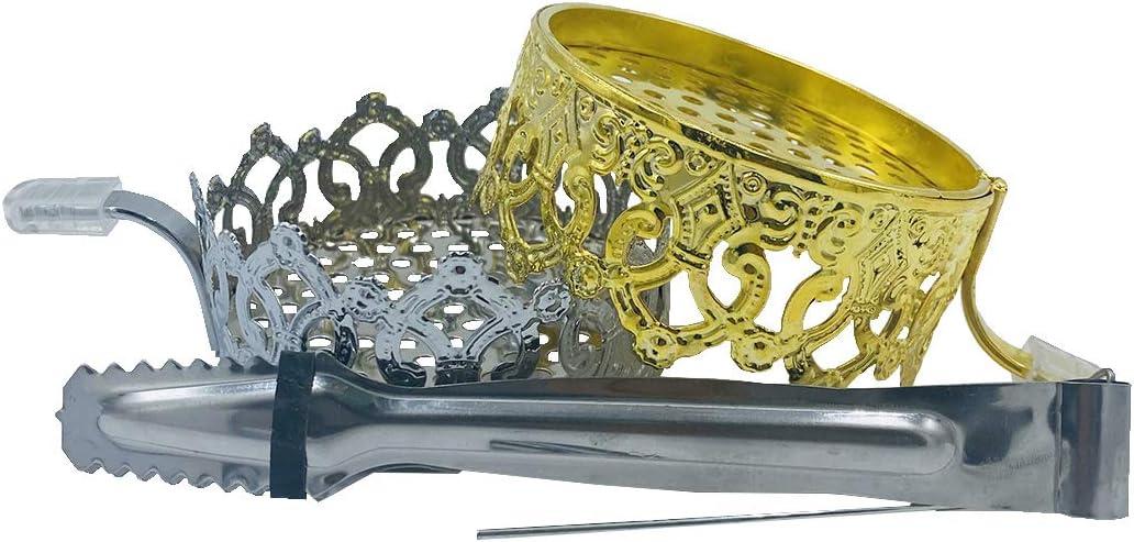 KKDUCK Hookah Charcoal Holder Shisha Hookah Bowl Accessories Coal Screens 4 Pcs in 1 Set (1#)