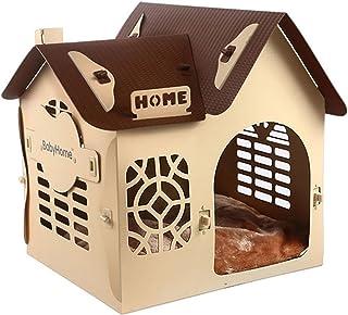 ZSY pet Cabina di Plastica Dell'animale Domestico, Piccola Casa del Gatto del Cane con Il Tappeto, Resistente Ai Graffi, Resistenza A Morso, Impermeabile Facile da Pulire per L'Estate d'inverno