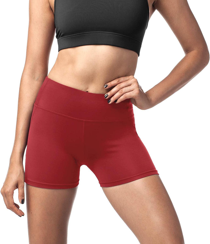 mit Tasche L09 Blickdicht Figurformend /Übergro/ße Stretch Yoga Tights Shorts LAPASA Damen Sport Kurz Leggings 1 bis 2 Pack
