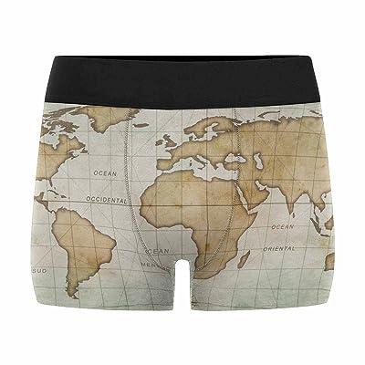 XS-3XL INTERESTPRINT Mens Boxer Briefs Underwear Antique Map of The World Antique Map