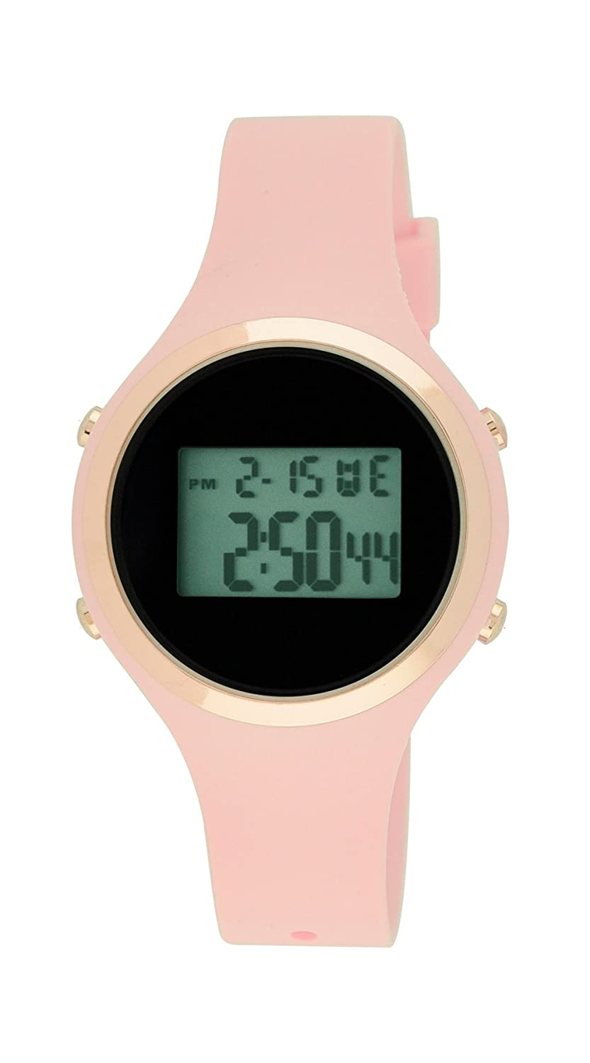 Moulin Ladies Pastel Color Digital Jelly Watch Pink 03158-76626