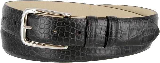 Mens Italian Leather Dress Casual Belt 1-1//8 Wide
