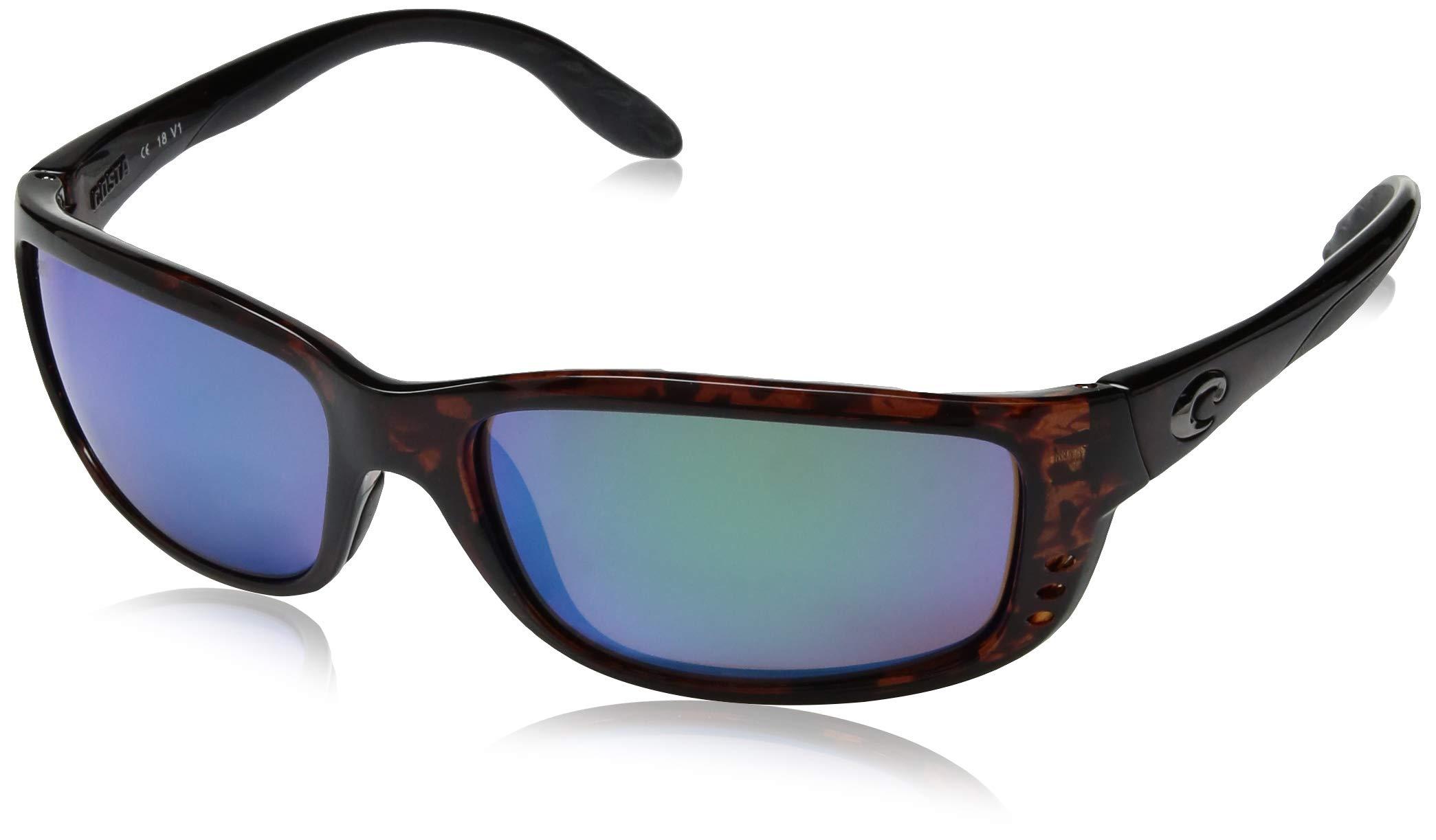 Costa Del Mar Zane Sunglasses, Tortoise, Green Mirror 580G Lens by Costa Del Mar