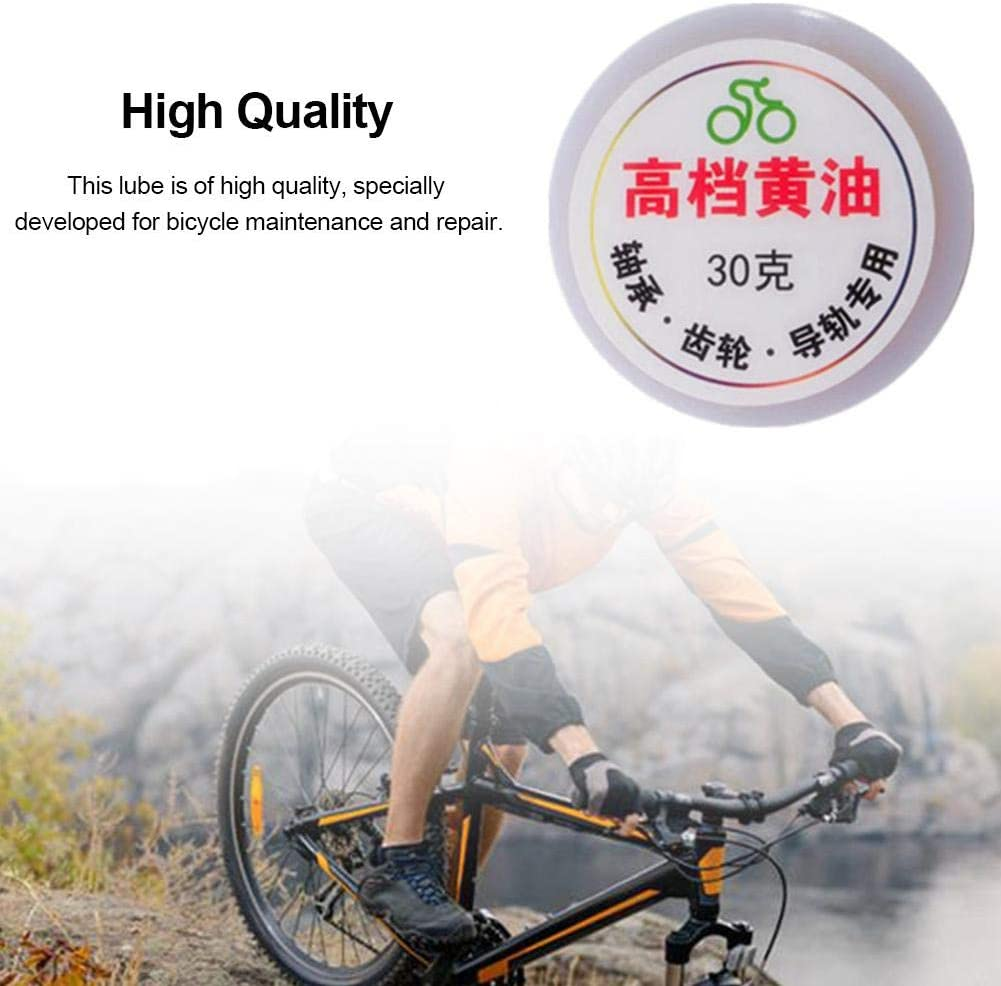 signmeili 30G Mountain Bicycle Grease Lube,Bicycle Chain Lube,Motor Hub Gears Bearing Chain Oil,Moisture-Proof Antioxidant for Bicycle Chains