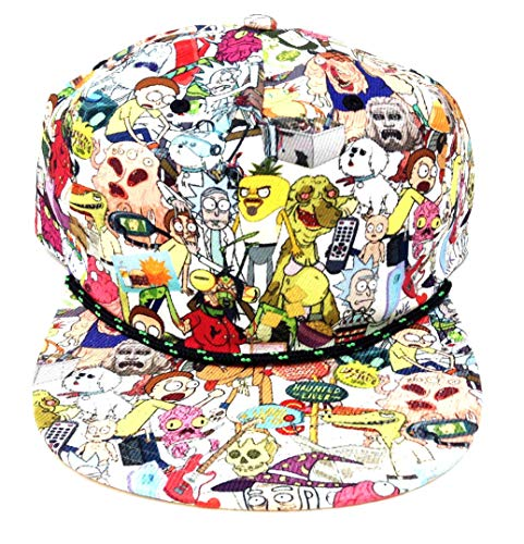 (Rick & Morty Characters Sublimated All Over Print Snapback)