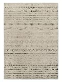 KAVKA Designs Heliopolis Area Rug, (Ivory/Grey) - NAVAJO Collection, Size: 5x7x.5 - (TELAVC1457RUG57)