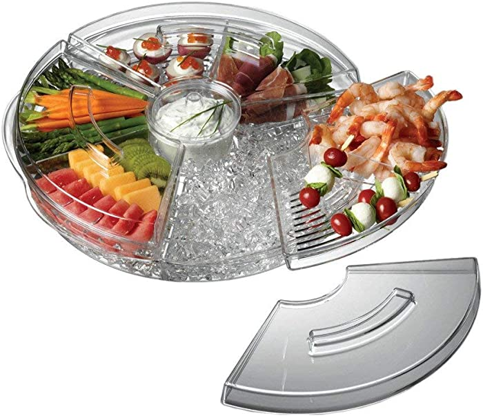 "Prodyne AB-5-LA Appetizers On Ice with Lids, 16"", Clear"