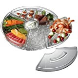 """Prodyne Appetizers On Ice with Lids, 16"""", Clear"""