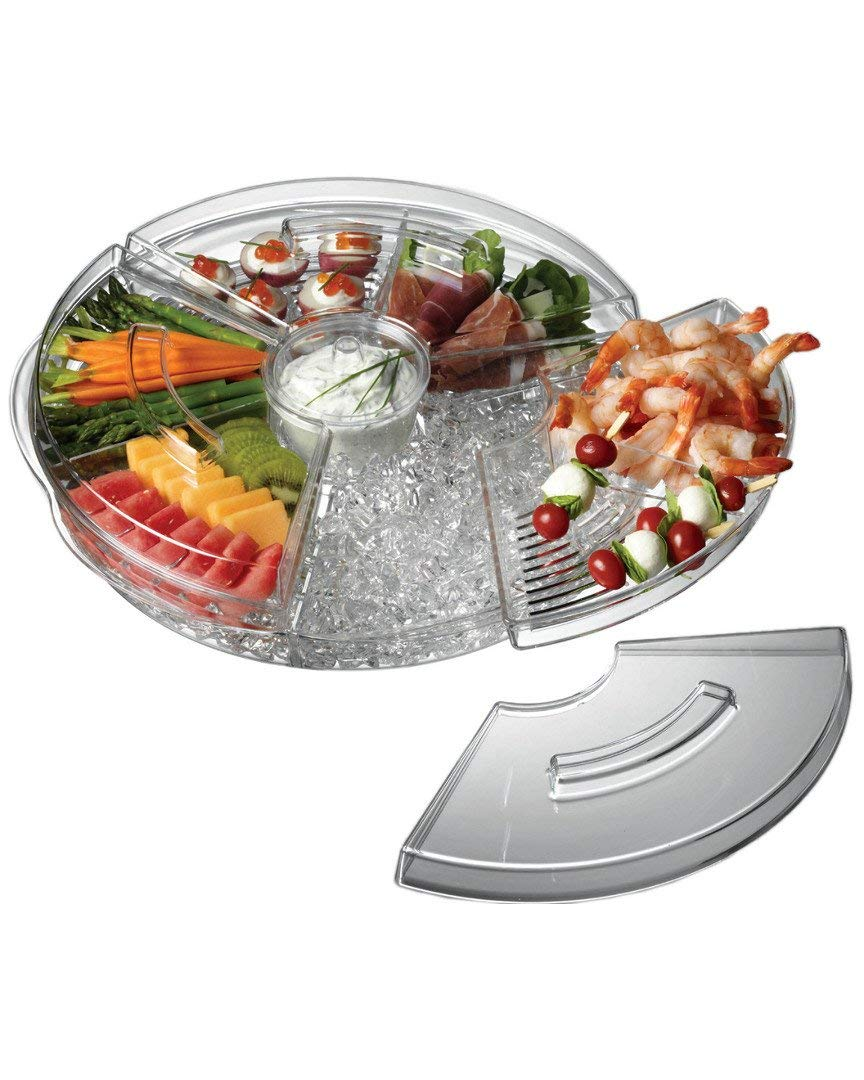 Prodyne AB-5-LA Appetizers On Ice with Lids, 16'', Clear by Prodyne