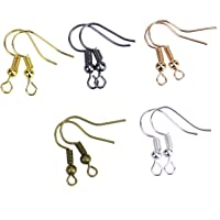 Monrocco 500pcs 18MM Surgical Steel Hypo Allergenic with Ball and Coil Mixed Color French Wire Earring Hooks Jewelry…