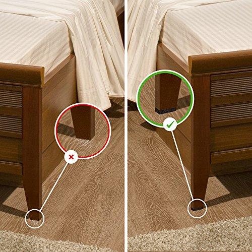 NON SLIP 16 SQUARE Furniture Pads Premium Rubber Felt Furniture Feet 2