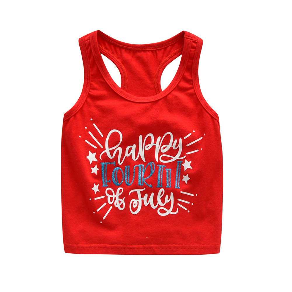 Tanhangguan 2Pcs Kids Baby Girl Boy Clothes 4th of July Letter Print Vest Top and Cute Shorts Summer Sunsuit Outfits