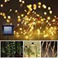 8 Modes Solar String Lights, Upgrade Gotideal® 100 LEDs Starry String Lights, Outdoor Decorative Lighting for Landscape, Faries Garden Homes Christmas Party