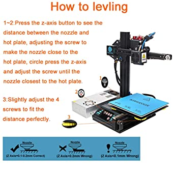 Impresora 3D, Kingroon DIY Resume Impresora con pantalla táctil ...
