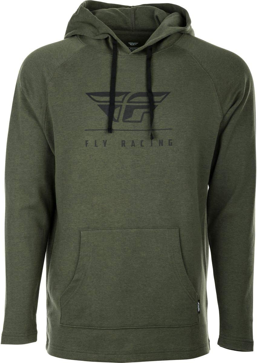 Small Black Fly Racing Crest Hoody