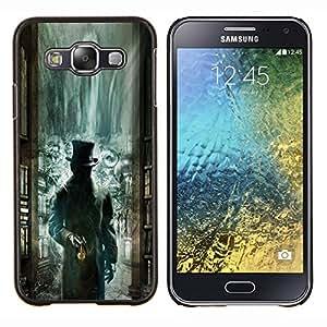 Biblioteca Verde Kids Misteriosas- Metal de aluminio y de plástico duro Caja del teléfono - Negro - Samsung Galaxy E5 / SM-E500