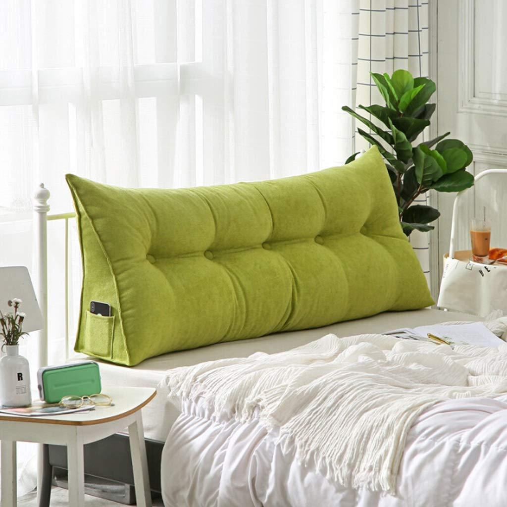 NBgy トライアングルクッション ベッドダブルソフトバッグピロー ビッグベッドバックレスト 三角形ベッドクッション 洗濯可能 寝室に最適 3色 7サイズ L B07MW8YKC2 C Large