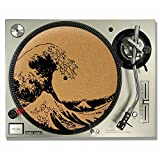The Great Wave Off Kanagawa Hokusai CORK DJ SLIPMATS / Turntable SLIP MATS - Vinyl