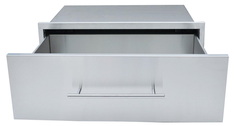 SUNSTONE DE-MD30 Designer Series Raised Style Height Single Drawer, 30'' x 10'', Stainless Steel by SUNSTONE