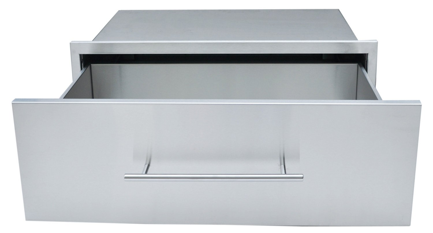 SUNSTONE DE-MD30 Designer Series Raised Style Height Single Drawer, 30'' x 10'', Stainless Steel