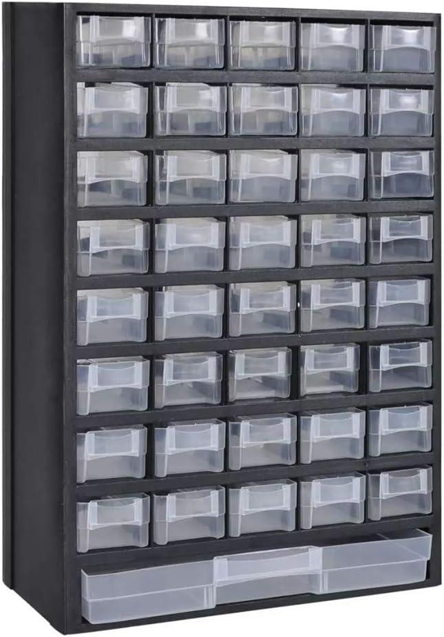 Armario Herramientas Cajones Caja de Almacenamiento Herramientas con 40 Cajones Peque/ños y Uno Grande FTVOGUE