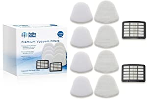 Fette Filter – Vacuum Filter Kit Compatible with Shark Navigator Lift-Away Nv350 Nv351, Nv352, Nv355, Nv356, Nv357. (2 Hepa 4 Foam)