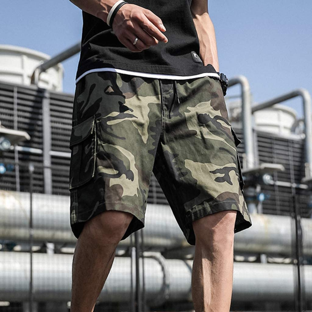 Plus Size Men Cargo Shorts,2019 New Casual Camouflage Premium Outdoor Relaxed Fit Multi-Pocket