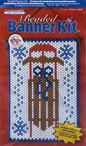 Winter Sled Beaded Banner Kit Beadery Craft Products 7246 Pony Beads