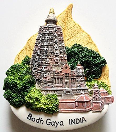 - Bodh Gaya Mahabodhi Temple INDIA High Quality Resin 3D fridge Refrigerator Thai Magnet Hand Made Craft.