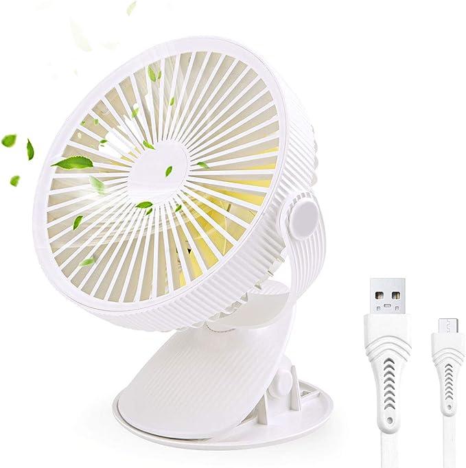 FOCHEA Ventilador USB, Mini Ventilador Pinza Portatil Ventilador ...