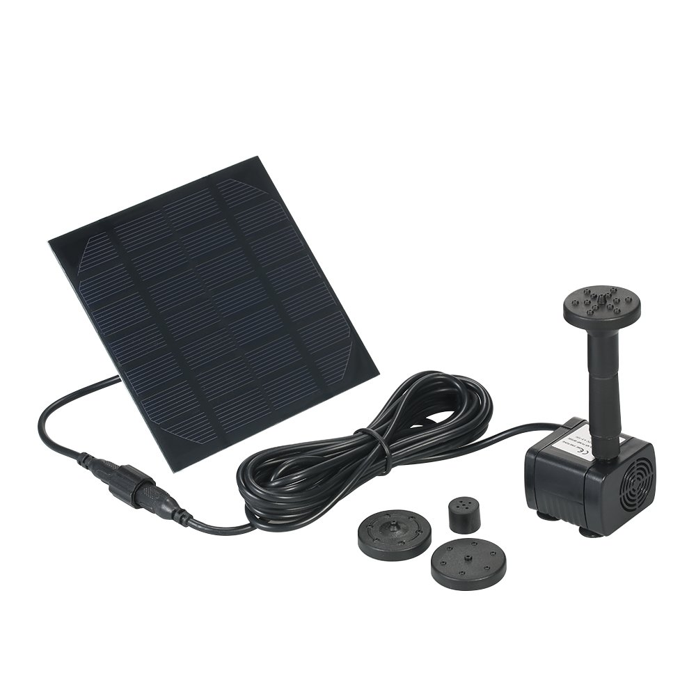Anself Solar Panel Power Submersible Fountain Pond Water Pump Big Bargain