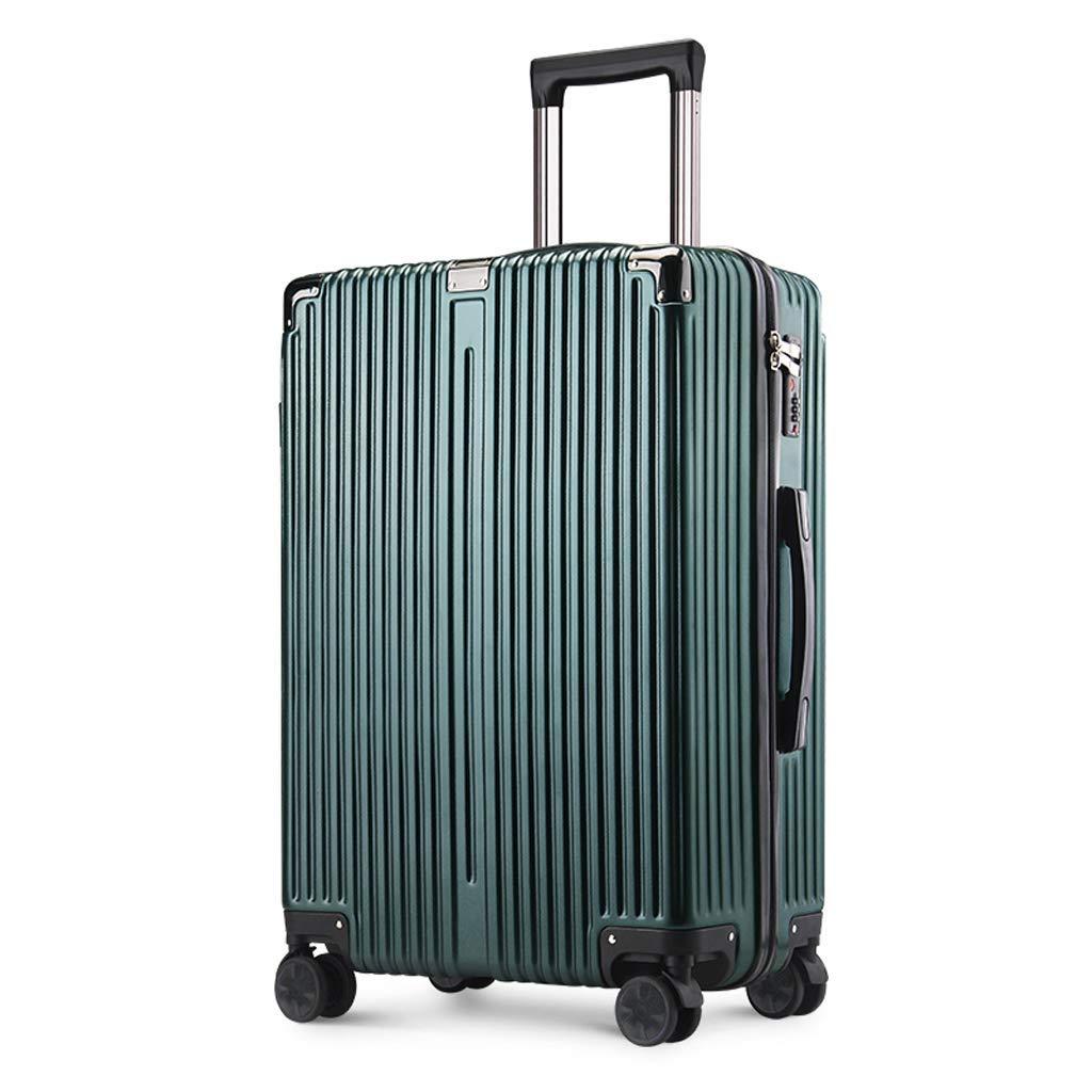 36-dianyejiancai 普遍的な車輪の軽量手荷物が付いているキャリーオンABSスーツケースハードシェル (Color : 緑, サイズ : 26 inches) B07S2P4J6J 緑 26 inches