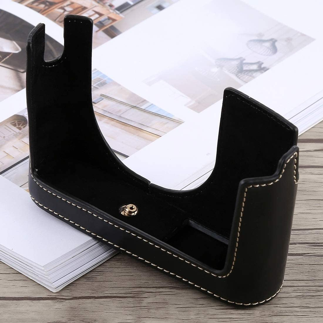Typ 116 Black Color : Black Ychaoya High-end Camera Case Wuzpx 1//4 inch Thread PU Leather Camera Half Case Fundament for Leica Q