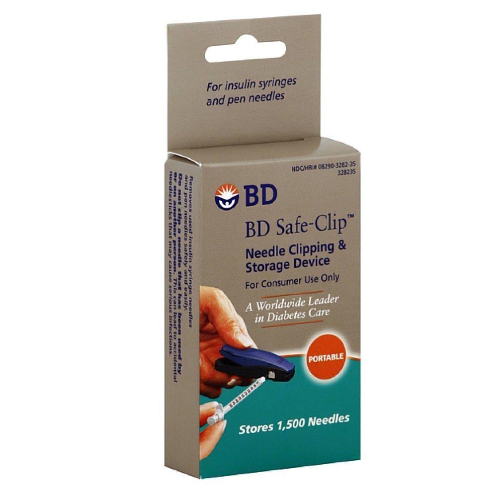 Invacare Safe-Clip Insulin Syringe Needle Clipper, 3 Count