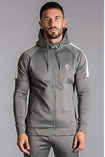 Gym King Mens Core Plus Zip Thru Hoodie Sweatshirt Designer Hooded Tracksuit Top