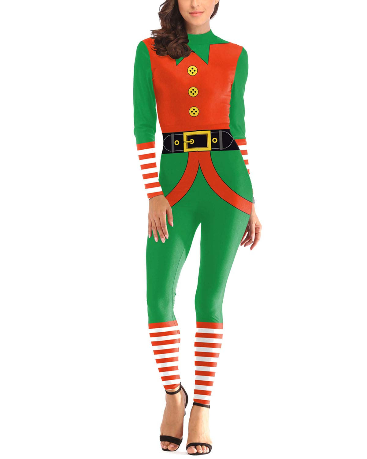 efcf5bd9f5 Women 3D Style Halloween Cosplay Costumes Jumpsuit Bodysuit product image