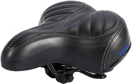 Comfort Wide Big Bum Bike Bicycle Cruiser Sporty Soft Cushion Pad Saddle Seat