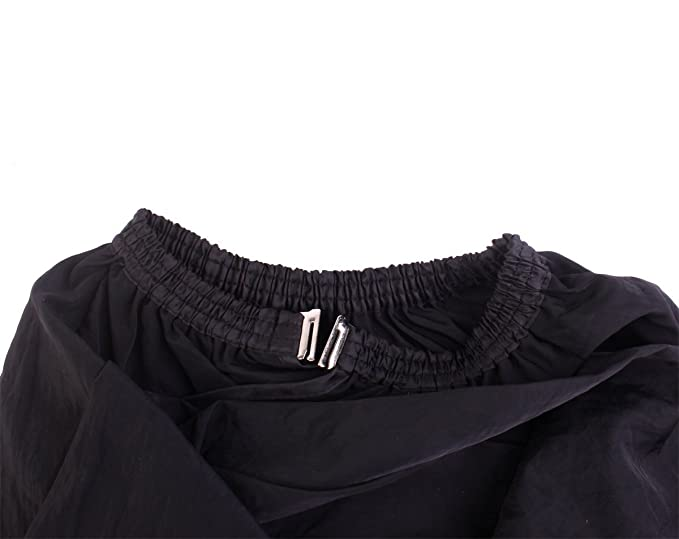 Bata negra para salón, barbería, capa para coloración de cabello: Amazon.es: Belleza