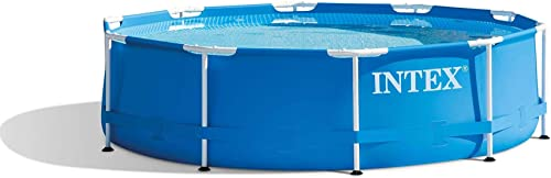 Intex-28200EH-10-Foot-x-30-Inch-Outdoor-Metal-Frame-Above-Ground-Round-Swimming-Pool