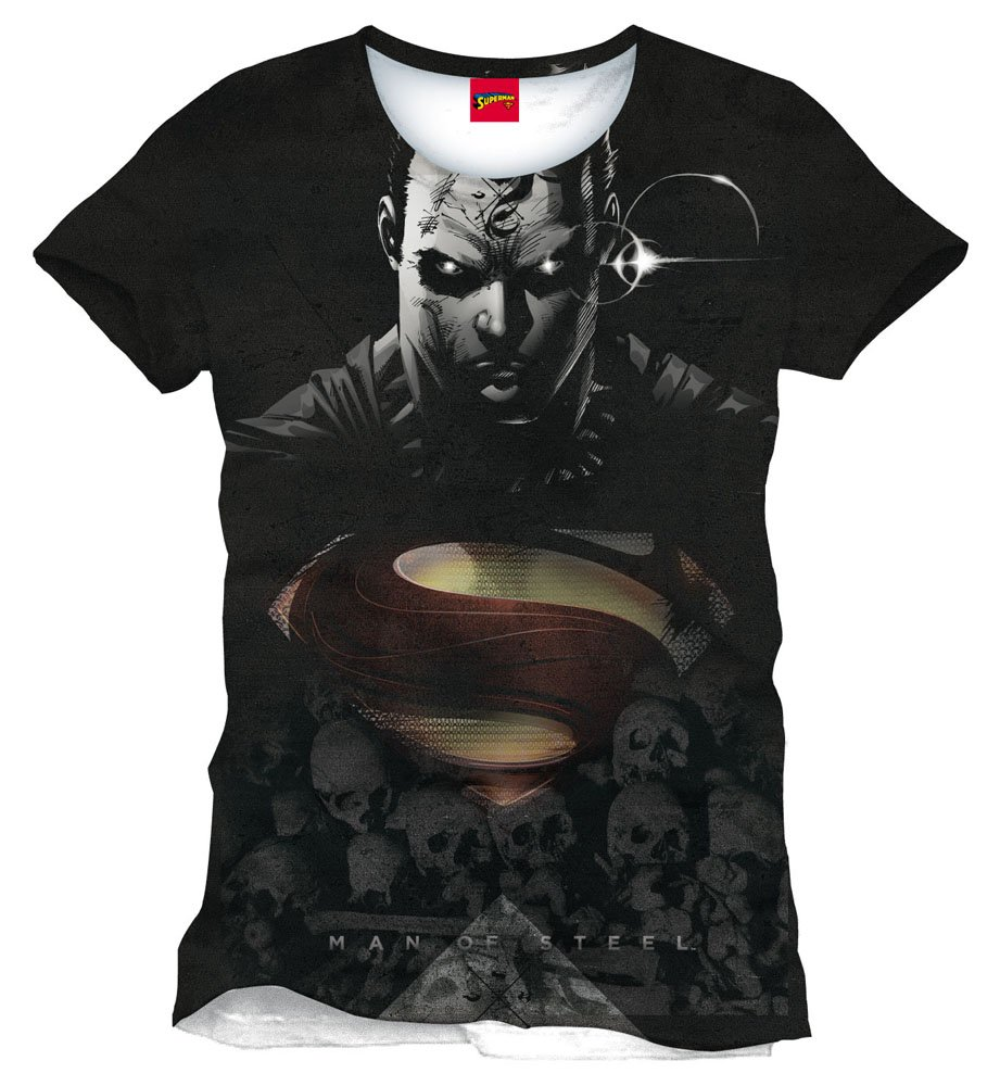CODI - Superman Man Of Steel T-Shirt Big Face All Over (S)