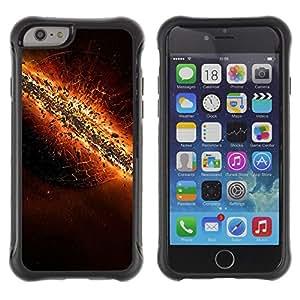 Pulsar Defender Series Tpu silicona Carcasa Funda Case para Apple iPhone 6(4.7 inches) , The destruction of Earth
